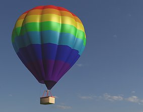 Hot air balloon 3D model low-poly