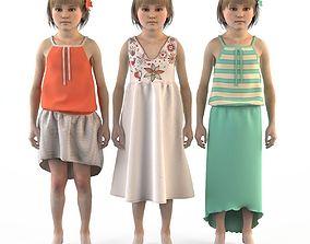3D Group of children child boy girl playroom childrens 1
