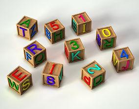 3D model Alphabet Cubes Toy