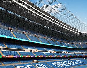 Santiago Bernabeu Stadium 3D