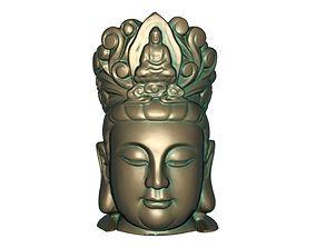 Bodhisattva head 3D printable model