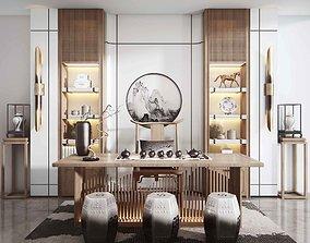 3D model Tea house interior