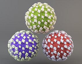 Virus molecule 3D asset