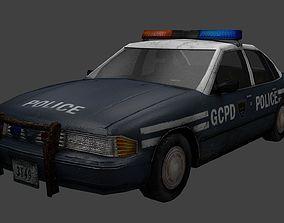 3D asset rusty police car