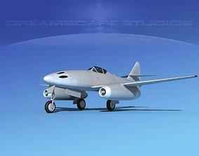 3D model Messerschmitt ME-262A1 Bare Metal