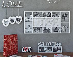 decorative set Love 3D model