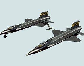 NASA North American X-15 Experimental Aircraft 3D asset