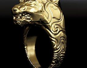 lion ring for finger rady to 3D asset