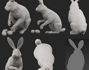 isolated easter bunny 3D model