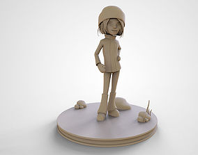 Sophie Cute Cartoon Girl 3D Print High Poly