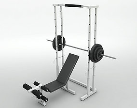 excersize Weight Bench 3D model game-ready