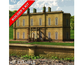 English Manor Country House 3D model