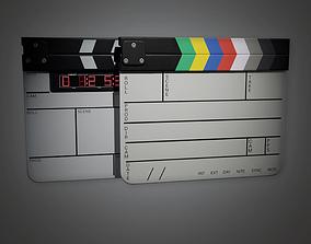 3D model Film Production Slate HLW - PBR Game Ready