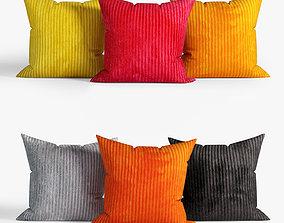 3D model Decorative pillows set 034