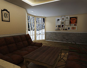 Lounge at the cottage 3D