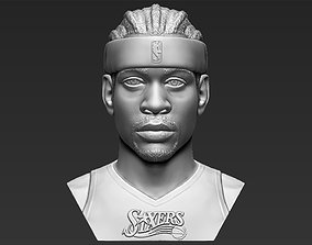 Allen Iverson bust 3D printing ready stl obj