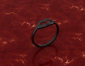 3D print model kiss symbol ring