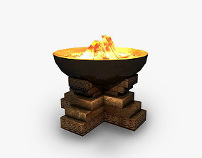 3D asset Ancient brazier fire pit bowl
