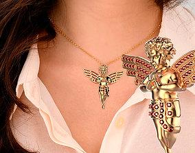 3D print model jewelry angel pendant