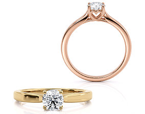 3D print model Engagement ring with the heart