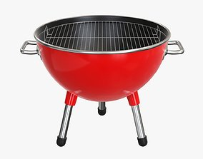 Charcoal kettle steel bbq grill small 3D