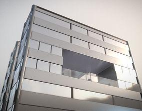 3D model PBR City Building Design H-1