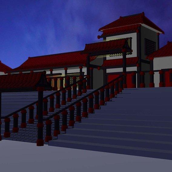 Asian 2d style - 3D model