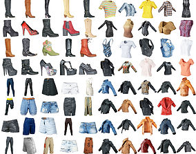 3D model 80 Vintage 90s and Rock Clothing Items Fashion 1