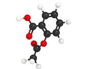 chemistry 3D Aspirin Molecule
