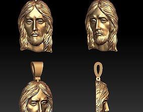 3D print model character Jesus pendant