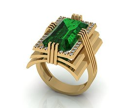 3D print model rings gold Jewelry ring