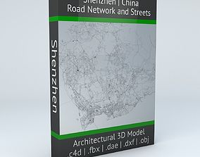 3D Shenzhen Road Network and Streets
