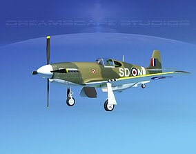 3D model North American Mustang X RAF V10