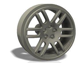 3D print model 6 U spokes rim - llanta