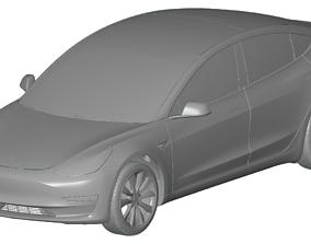 Tesla Model 3 2018 - 3d scans model sedan