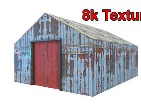 low-poly building Hangar Low-poly 3D model