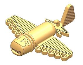 Columbian gold plane 3D printable model