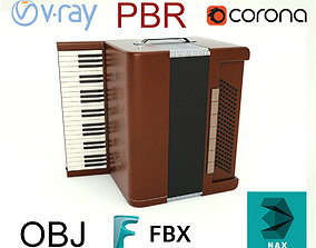 Accordion 3D model VR / AR ready
