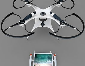 Generic Drone Quadcopter with Camera and RC 3D model