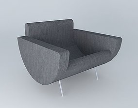 3D model Armchair gray GUARICHE houses the world