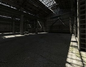 3D Abandoned Industrial Hall manufacturing