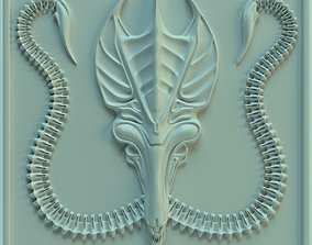 3D printable model Wall tile Alien Queen