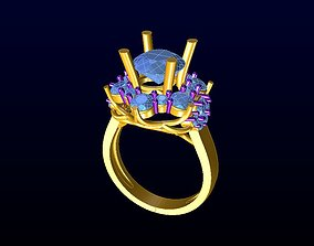 diamond-ring gem DIAMOND JEWELLERY 3D print model