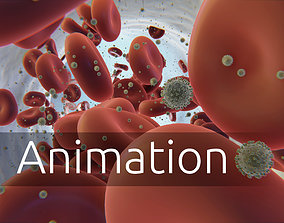 coronavirus - animated - blood flow 3D asset
