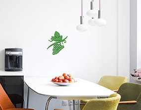 Grape branch for wall decoration 3D print model
