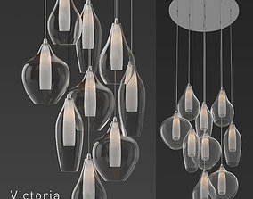 KUZCO Lighting Victoria MP3009 Pendant Light 3D model