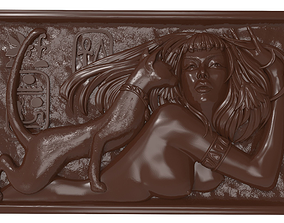 3D print model Cleopatra with cat bas relief