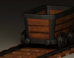 mining wagons 3d models game-ready