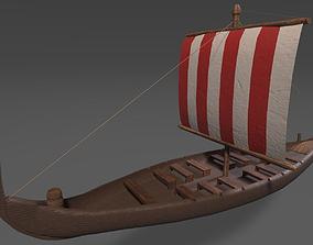 Viking Long Boat 3D asset