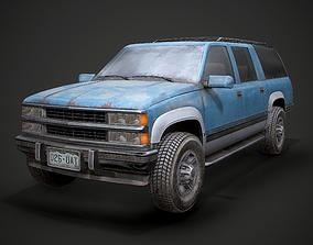 3D model Old Suv car low poly